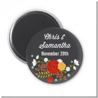 Floral Motif - Personalized Bridal Shower Magnet Favors