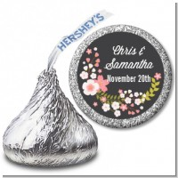 Floral Motif Pink - Hershey Kiss Bridal Shower Sticker Labels