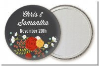 Floral Motif - Personalized Bridal Shower Pocket Mirror Favors