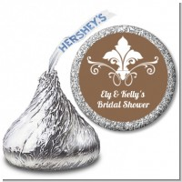 Fluer De Lis - Hershey Kiss Bridal Shower Sticker Labels