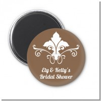 Fluer De Lis - Personalized Bridal Shower Magnet Favors
