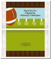 Football - Personalized Popcorn Wrapper Birthday Party Favors