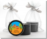 Forest Animals Twin Foxes - Baby Shower Black Candle Tin Favors
