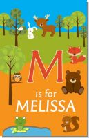 Forest Animals - Personalized Baby Shower Nursery Wall Art