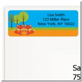 Forest Animals Twin Foxes - Baby Shower Return Address Labels