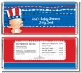Fourth Of July Stars & Stripes - Personalized Baby Shower Candy Bar Wrappers thumbnail