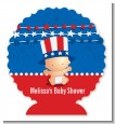 Fourth Of July Stars & Stripes - Personalized Baby Shower Centerpiece Stand thumbnail