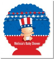 Fourth Of July Stars & Stripes - Personalized Baby Shower Centerpiece Stand