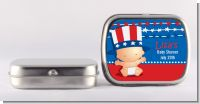 Fourth Of July Stars & Stripes - Personalized Baby Shower Mint Tins
