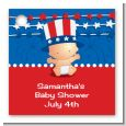 Fourth Of July Stars & Stripes - Personalized Baby Shower Card Stock Favor Tags thumbnail