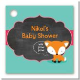 Fox and Friends - Personalized Baby Shower Card Stock Favor Tags