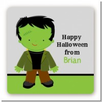 Frankenstein - Square Personalized Halloween Sticker Labels