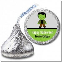 Frankenstein - Hershey Kiss Halloween Sticker Labels