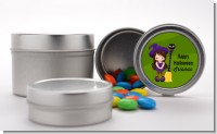 Friendly Witch Girl - Custom Halloween Favor Tins