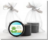 Froggy - Baby Shower Black Candle Tin Favors