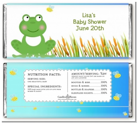 Froggy - Personalized Baby Shower Candy Bar Wrappers