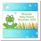 Froggy - Personalized Baby Shower Card Stock Favor Tags