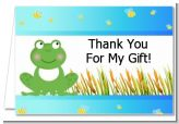 Froggy - Baby Shower Thank You Cards