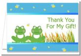 Twin Frogs - Baby Shower Thank You Cards