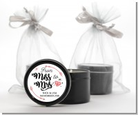 From Miss To Mrs - Bridal Shower Black Candle Tin Favors