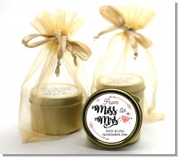 From Miss To Mrs - Bridal Shower Gold Tin Candle Favors