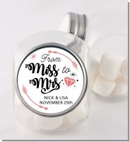 From Miss To Mrs - Personalized Bridal Shower Candy Jar