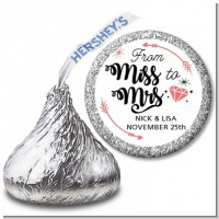 From Miss To Mrs - Hershey Kiss Bridal Shower Sticker Labels