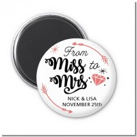 From Miss To Mrs - Personalized Bridal Shower Magnet Favors