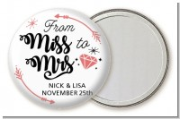 From Miss To Mrs - Personalized Bridal Shower Pocket Mirror Favors