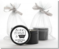 From My Shower - Bridal Shower Black Candle Tin Favors