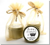 From My Shower - Bridal Shower Gold Tin Candle Favors