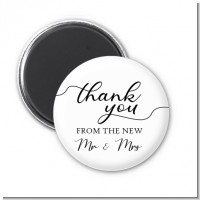 From The New Mr and Mrs - Personalized Bridal Shower Magnet Favors