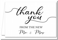 From The New Mr and Mrs - Bridal Shower Thank You Cards