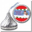 Frosty the Snowman - Hershey Kiss Christmas Sticker Labels thumbnail