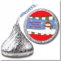 Frosty the Snowman - Hershey Kiss Christmas Sticker Labels