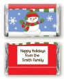 Frosty the Snowman - Personalized Christmas Mini Candy Bar Wrappers thumbnail