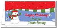 Frosty the Snowman - Personalized Christmas Place Cards