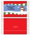 Frosty the Snowman - Personalized Popcorn Wrapper Christmas Favors thumbnail
