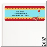 Fire Truck - Baby Shower Return Address Labels