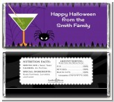 Funky Martini - Personalized Halloween Candy Bar Wrappers
