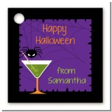 Funky Martini - Personalized Halloween Card Stock Favor Tags