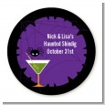 Funky Martini - Round Personalized Halloween Sticker Labels thumbnail