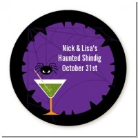 Funky Martini - Round Personalized Halloween Sticker Labels