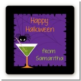 Funky Martini - Square Personalized Halloween Sticker Labels