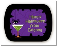Funky Martini - Personalized Halloween Rounded Corner Stickers