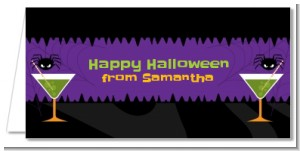 Funky Martini - Personalized Halloween Place Cards