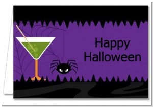 Funky Martini - Halloween Thank You Cards