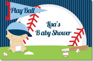 Future Baseball Player - Personalized Baby Shower Placemats