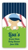 Future Baseball Player - Custom Rectangle Baby Shower Sticker/Labels