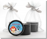 Future Firefighter - Baby Shower Black Candle Tin Favors